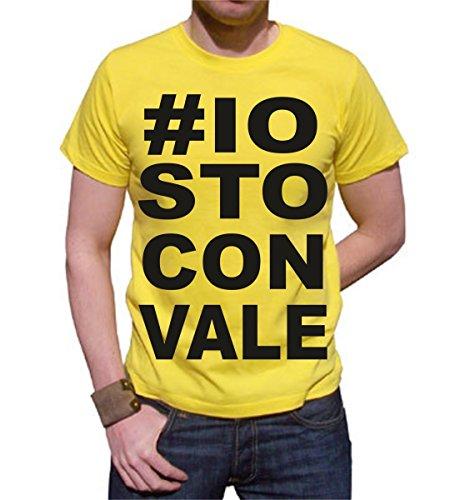 t-shirt -io sto con Vale tutte le taglie uomo donna maglietta by tshirteria