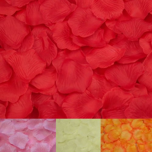 2013Newestseller New Wedding Favours Party Decoration Sets 4 Colors Lots Of Wedding Confetti Rose Petals (Ivory+Natural Red+Pink+Yellow) front-511266