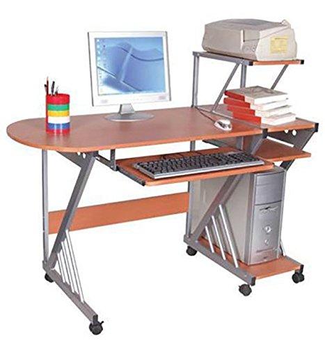 ShopWeb.- Office -PORTA COMPUTER MDF COLORE FAGGIO SILVER STEEL