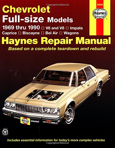 Haynes Chevrolet Full-Size Sedans, 1969-1990 Manual: V6 And V8, Impala, Caprice, Biscayne, Bel Air, Wagons (Haynes Repair Manual) front-318750