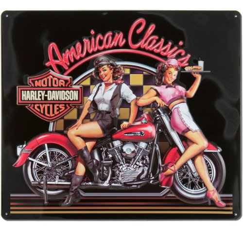 Harley-Davidson® American Classic Babes Tin Sign