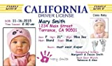 Personalized Baby Drivers License (set of 20) Birth Announcement-California