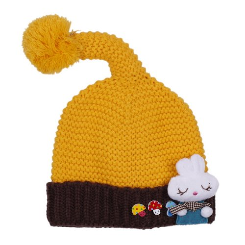 EOZY Child Bunny Cap Toddler Knitted Beanie Hat Ear Protect for Baby Headwear