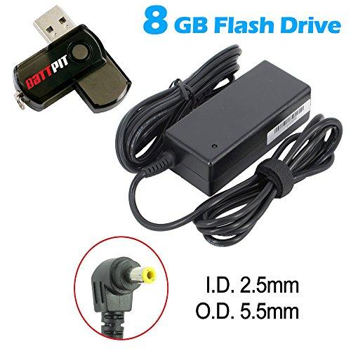Battpit Notebook Netzteil Ladegerät für Asus A55VD-SX043V mit Netzkabel bei kostenlosem 8GB Battpit USB-Stick