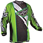 Fly Racing F-16 Race Jersey, Green/Black, Size: Lg 365-525L