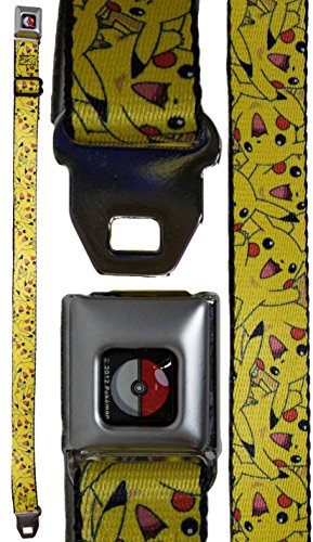 Pokemon Youth Seatbelt Belt 20 - 36 Inches - Pikachu Collage (Pokemon Belt Buckle compare prices)