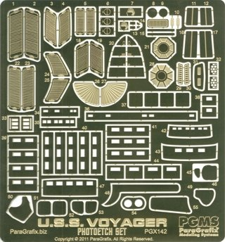 Star Trek USS Voyager Model Kit Photoetch Set (Star Trek Resin Models compare prices)