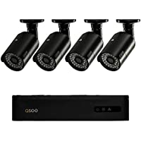 Q-See 4-Channel 960H 500GB Surveillance System with 4 HD Camera and 100 ft. Night Vision