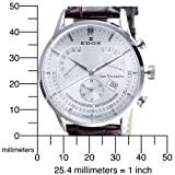 Edox Men's  01505 3 AIN Chronograph Retrograde Les Vauberts Watch
