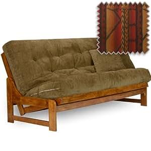 arden futon set queen size frame premium 8 mattress