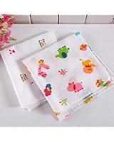 TGLOE 10PCS Mouchoir dame Corée du Mode Coton de haute qualité Belle Animation Colorful Absorption de l'humidité mouchoir