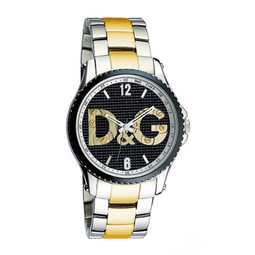 Dolce&Gabbana DW0759 - Reloj analógico de caballero de cuarzo con correa de acero inoxidable