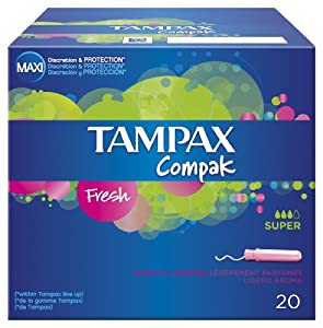Tampax Compak Tampons Fresh Super Absorbancy x 20