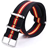 AMPM24 Casual STRIPPED Nylon Sport Watch Band Straps 20mm Watchbands WB2018