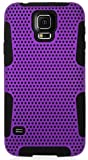 myLife (TM) Indigo Purple and Night Black - Perforated Mesh Series (2 Layer Neo Hybrid) Slim Armor Case for the NEW Galaxy S5 (5G) Smartphone by Samsung (External Rubberized Hard Shell Mesh Piece + Internal Soft Silicone Flexible Gel + Lifetime Warranty + Sealed in myLife Authorized Packaging)