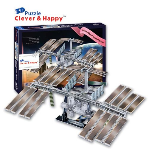 Clever&Happy 3D Puzzle Model International Space Station Educational Toys Adult Puzzle Model Games for Children (International Space Station Model compare prices)