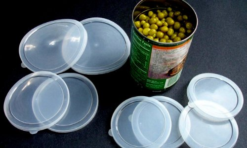 8 Piece Large Medium small Plastic Can Cover Also For Pet Cat Dog Food (Save Food Fresh, Tight Seal)