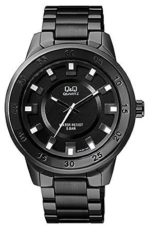 buy q q analog z black color ips coating black dial watch for men q q analog z black color ips coating black dial watch for men q870j402y