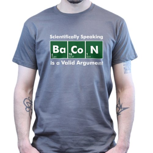 Scientific Baconstrips Epic Meal T-Shirt Charcoal Grey L