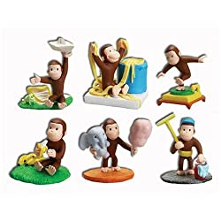 Curious George Buildable Mini Figures Set of 6 Capusle Toys