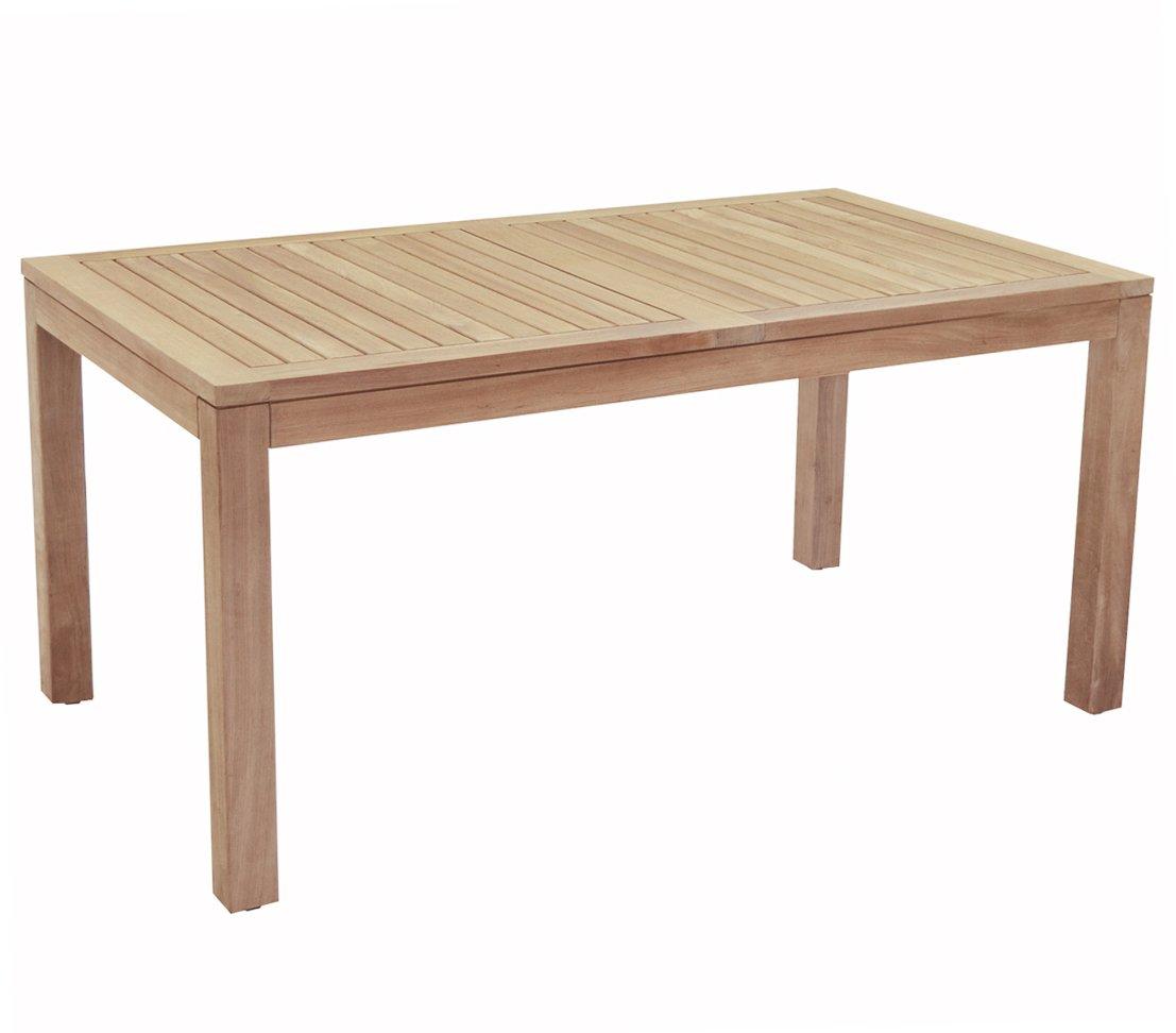 Dehner Gartentisch, ca. 160 x 76 x 90 cm, FSC Teakholz, natur online kaufen