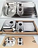 EURODOMO SPÜLE SOLARIS 60 EDELSTAHL Metall glatt Küchen Einbauspüle