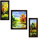 3 PIECE SET OF FRAMED WALL HANGING ART - B01GA5RHWM