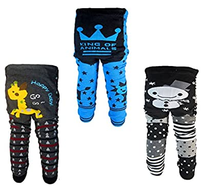 [Backbuy] 3 Pants 0-24 Months Baby Boys Toddler Leggings trousers Knitted pants E4F4F5 (12-18 Months) by Backbuy