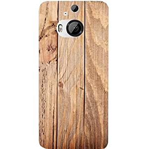 Casotec Wooden Texture Design Hard Back Case Cover for HTC One M9 Plus