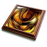 """3dRose trv_3083_1 Digital Artwork Design 10 Trivet with Ceramic Tile, 8 by 8"""", Brown"""