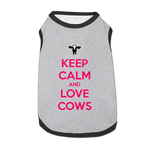 [Keep Calm And Love Cows Dog Hoodies Dress Dog Costume] (Welcome To The Black Parade Costume)