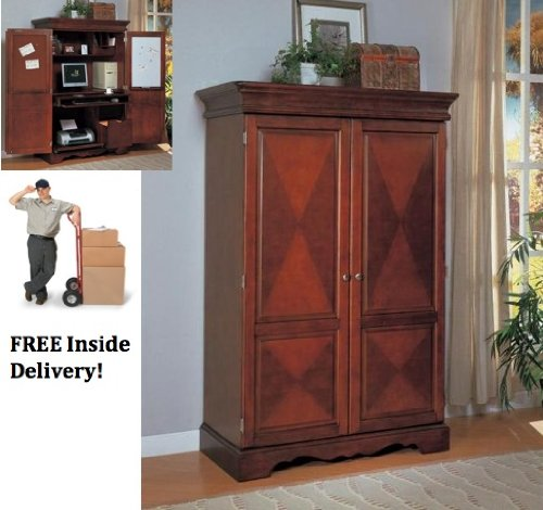 Buy low price comfortable sunrise home furnishings walnut computer armoire b001tigvgy Home furniture online low price