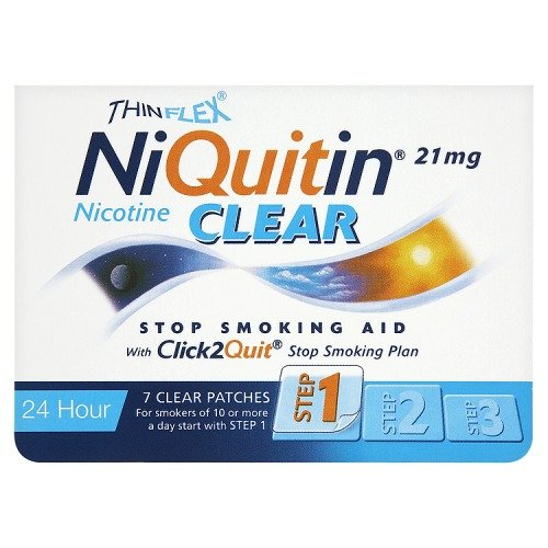 NiQuitin 21mg Clear 24 Hour 7 Patches Step 1