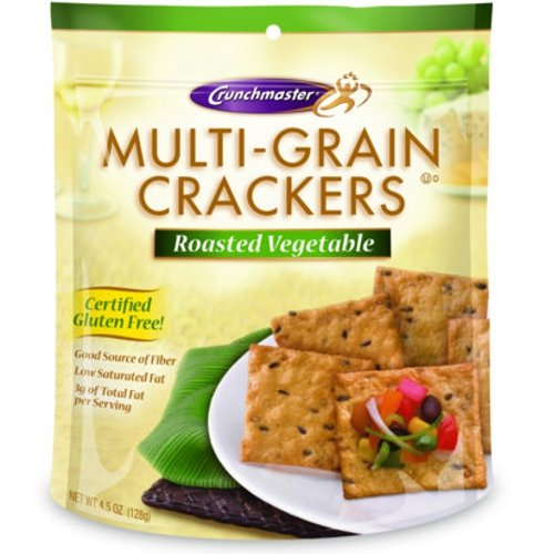 Roasted Vegetable Multi-grain Crackers- 2 / 4.5 Oz Bags Gluten Free