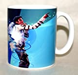 Tribute To Michael Jackson Coffee Mug Collectible Souvenir 11 Oz Blue Background Amazon.com
