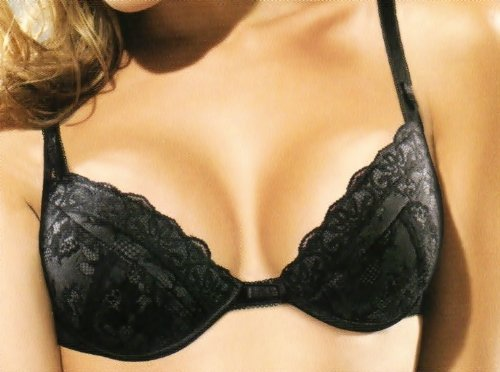 Wonderbra CHIC LACE Push- Up BH GR 80 A Schwarz