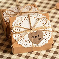 Imported Phenovo Kraft Paper Blank Card Hand Draw Gift Tags Heart Label 100pcs Brown