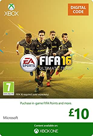 Xbox Live £10 Gift Card: FIFA 16 Ultimate Team [Xbox Live Online Code]