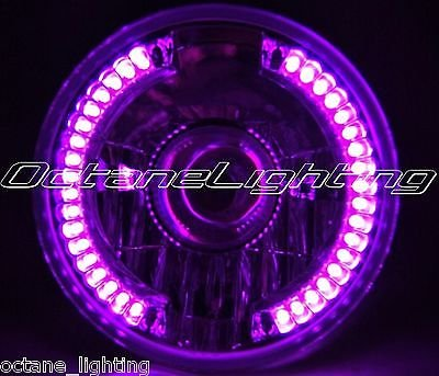 "Octane Lighting 7"" Projector Motorcycle Purple Pink Led Halo H4 Light Bulb Headlight For: Harley front-320632"