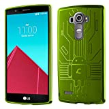 LG G4 Case, Cruzerlite Bugdroid Circuit TPU Case Compatible with LG G4 - Green