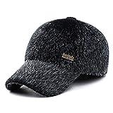 野球帽 メンズ キャップ 暖かい帽子 秋冬 耳あて付き 防寒対策 抗UV