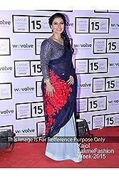 Designer BLUE Georgette Bollywood Replica Saree Sari