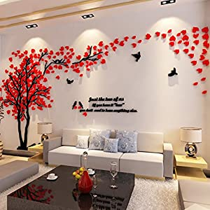 3d couple tree wall murals for living room for Best home decor from amazon