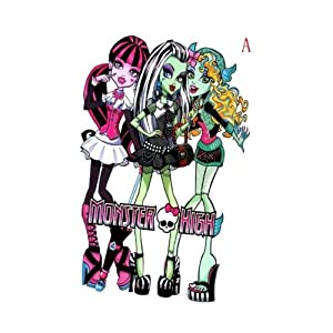 "Giant Size Monster High Wall Stickers, 33"" * 21"""