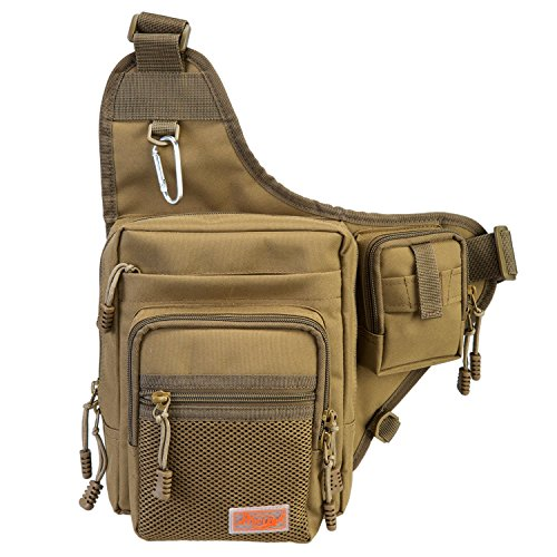 Thanksgiving-Sale-Piscifun-Sports-Shoulder-Bag-Fishing-Tackle-Bag-Crossbody-Messenger-Sling-Bags