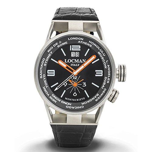 Orologio Uomo Dual Time Montecristo Ref. 508 0508A01S-00BKWHPK - Locman