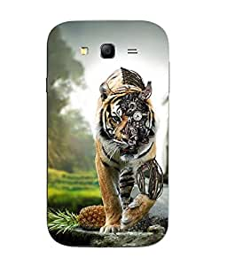 Snazzy Lion Printed Yellow Hard Back Cover For Samsung Galaxy J1