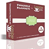 ★ SALE TODAY ONLY ★ Baby Receiving Blankets Gift Set | Organic Muslin Cotton Swaddle | Lambie & Me Caterpillars, 2 Count