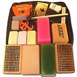 RaceWax Deluxe Ski Tuning Kit + Wax + 3 Brush Kit + Cork + Fluoro by RaceWax