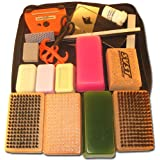 RaceWax Deluxe Ski Tuning Kit + Wax + 3 Brush Kit + Cork + Fluoro